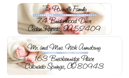 Matte Baby Shower and Birth Announcement Mailing Labels