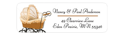 Sheer Clear Kids Return Address Labels