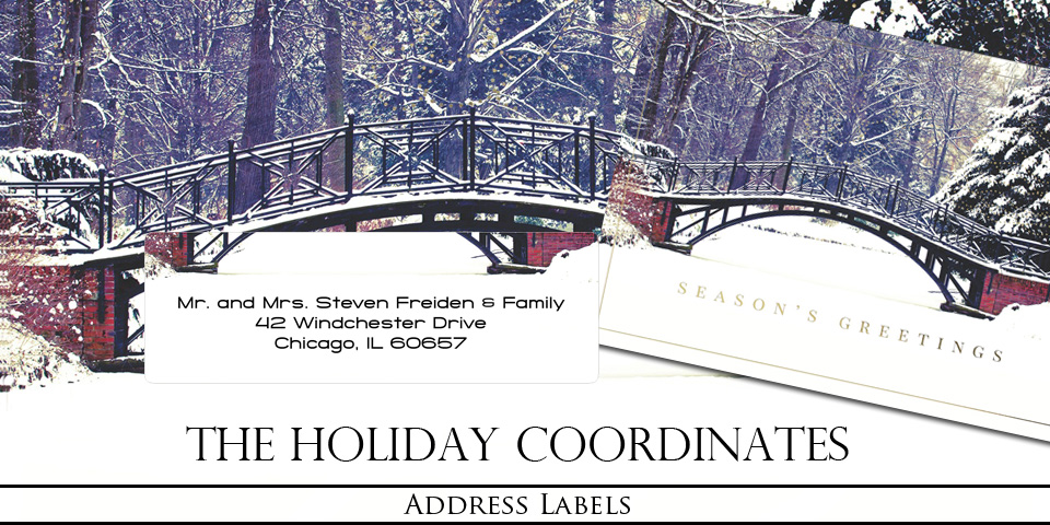 Bachcroft Christmas Holiday Address Labels
