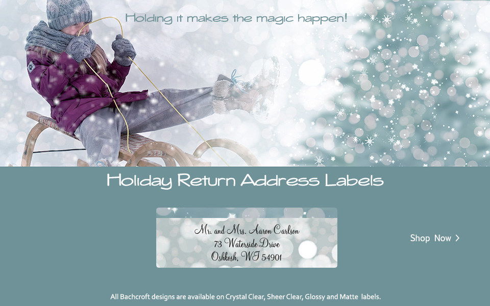 Bachcroft Christmas Holiday Return Address Labels