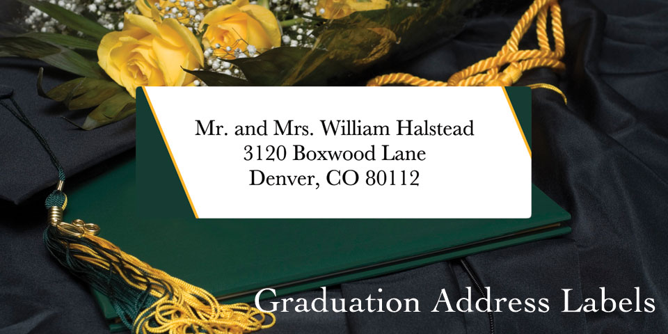 Bachcroft Graduation  Address Labels