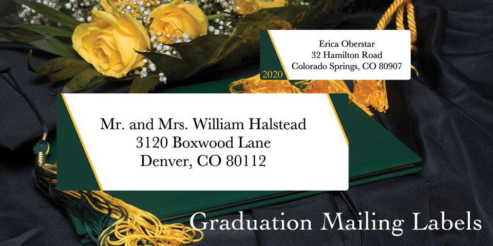 Bachcroft Graduation Mailing Labels
