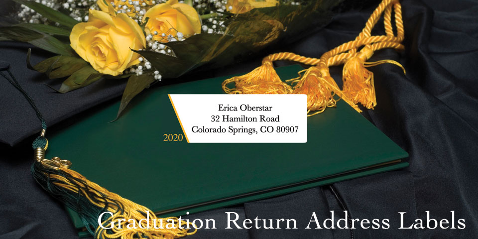 Bachcroft Graduation Return Address Labels