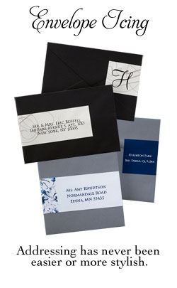 Envelope Icing addressing for stationery from Bachcroft Stationery.