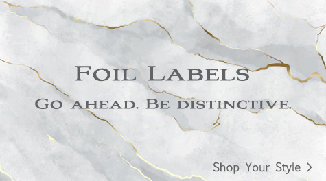 Silver and Gold Foil Mailing Labels.