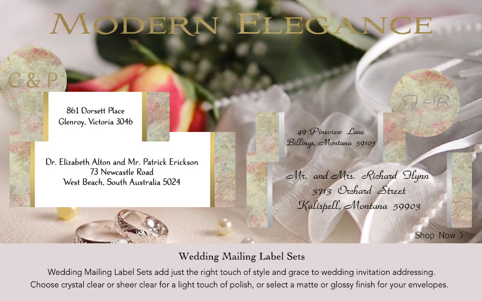 Wedding Mailing Label Sets for Modern Elegance.