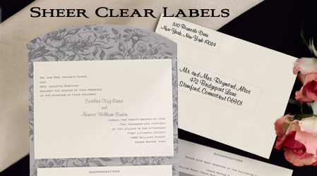 Wedding Mailing Label Sets. Wedding Return Address Labels and Wedding Address Labels