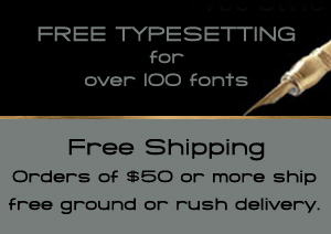 Free typesetting and Free Shipping.