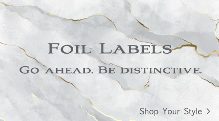 Gold and Silver Foil Labels for every occasions.