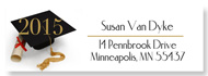 Contemporary Clear Graduation Return Address Labels, with graduation year