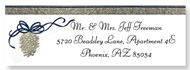 Greetings Holiday and Christmas Clear Return Address Labels