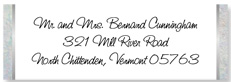 Clear Wedding Address Labels, with floral design
