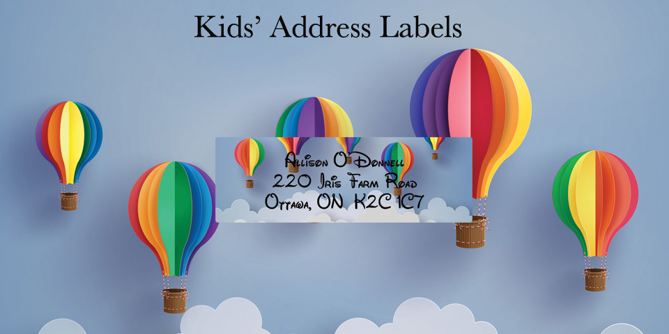 Bachcroft Kids' Address Labels