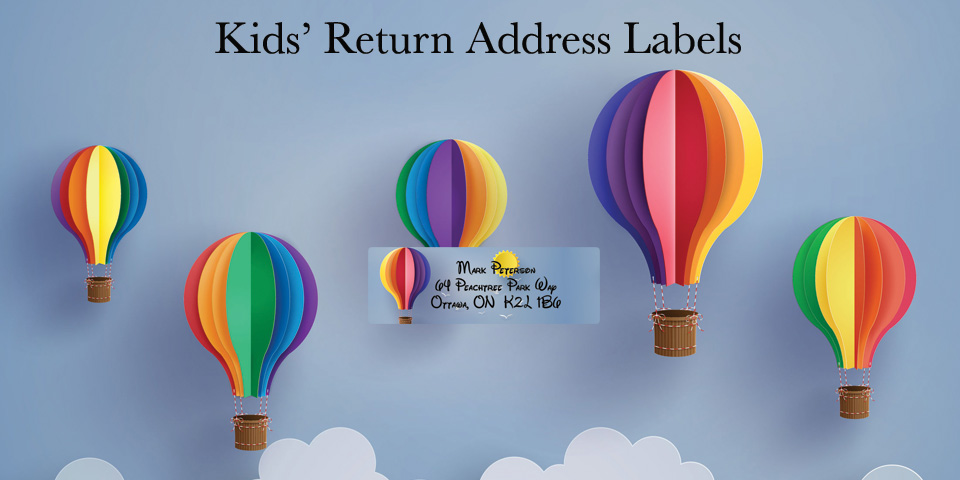 Bachcroft Kids' Return Address Labels