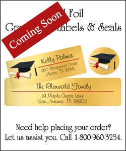 Gold Foil Graduation Labels and Seals