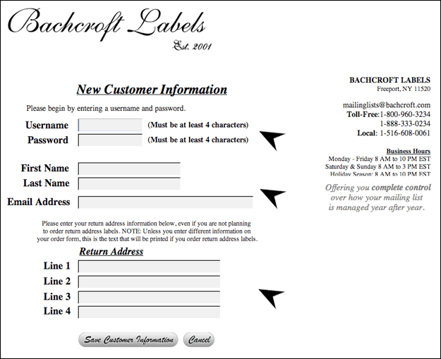 How to Use the Mailing List Printing Center | Bachcroft Labels