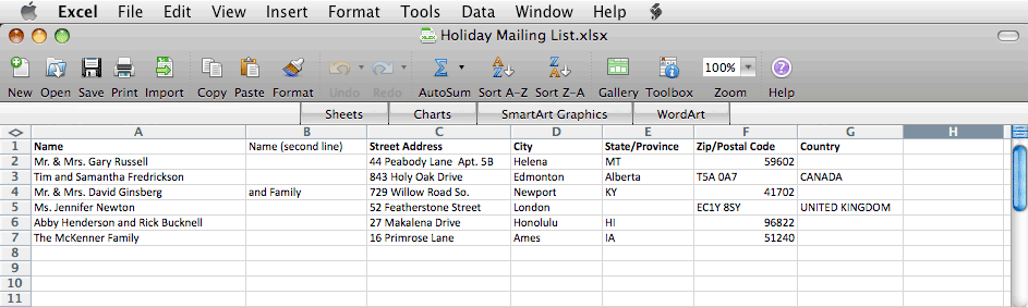 Create A Mailing List In Excel Bachcroft Labels