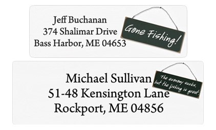 Glossy Men's Mailing Labels