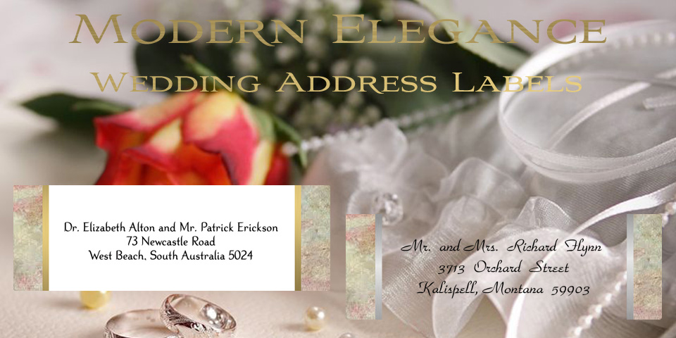 Wedding Address Labels by Bachcroft Labels