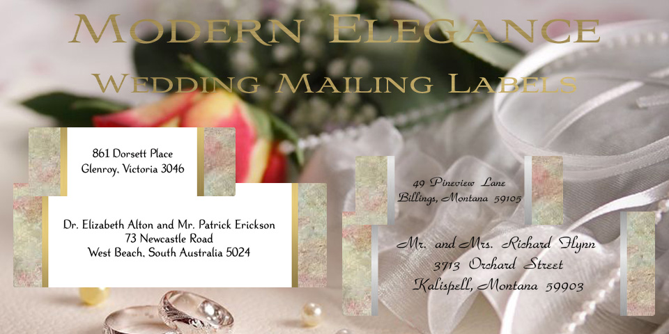Wedding Mailing Labels by Bachcroft